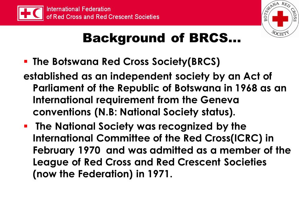 Background of BRCS...