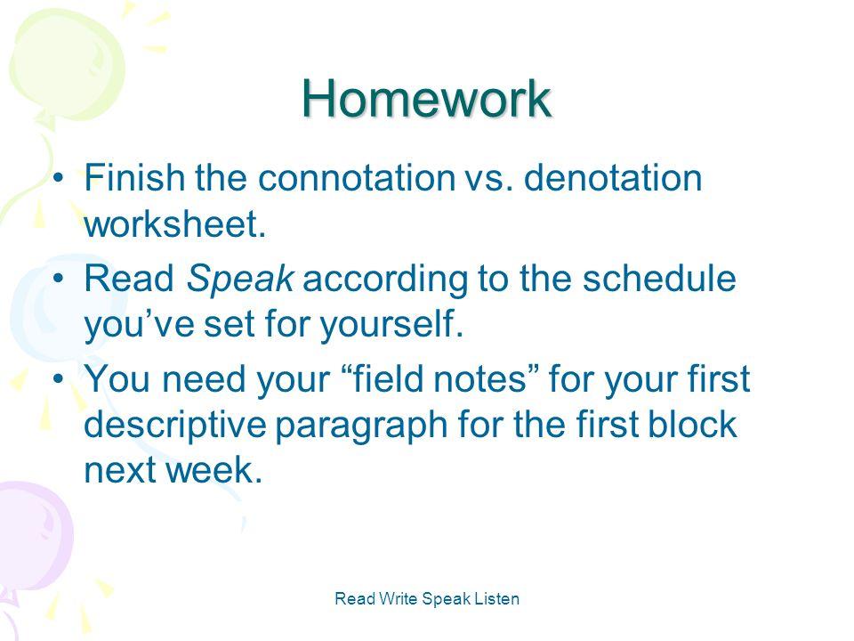 Connotation And Denotation Worksheets Connotation Worksheetssc