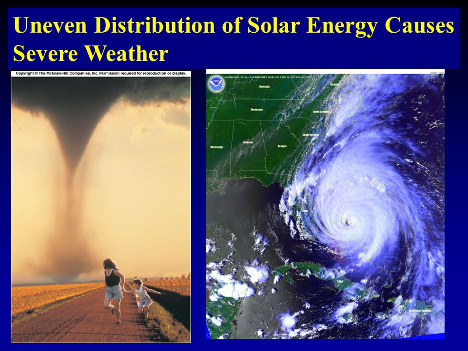 Uneven Distribution of Solar Energy Causes Severe Weather
