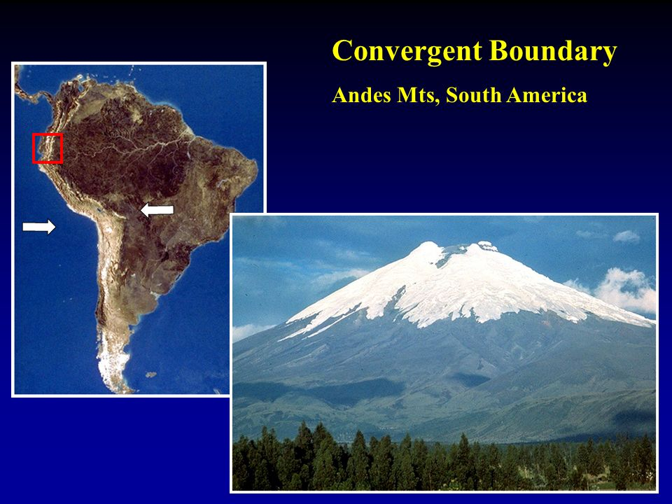Convergent Boundary Andes Mts, South America