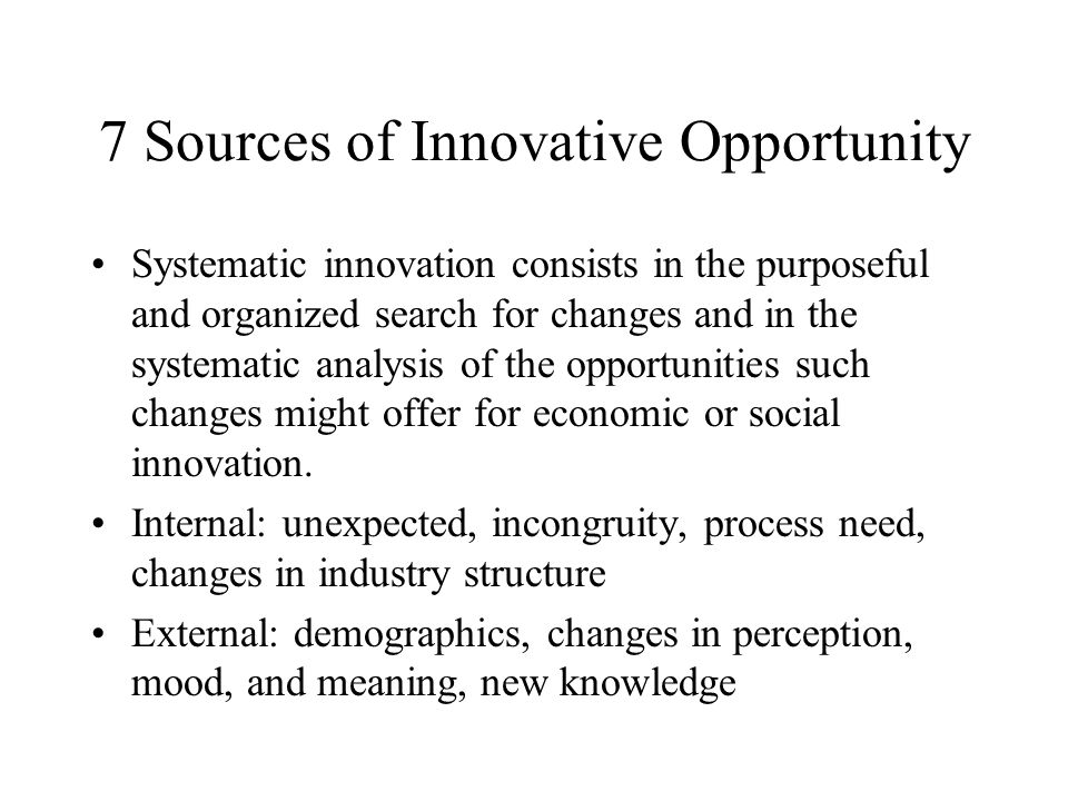 the seven sources of innovation entrepreneurship and innovation my impression of tony hsieh and the  Press highlights home / press tony hsieh, doug conant, howard schultz, and others entrepreneurship, innovation, transformation and leadership.