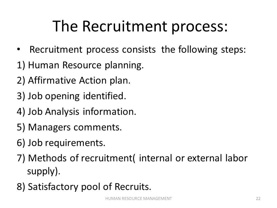 human resource planning process steps
