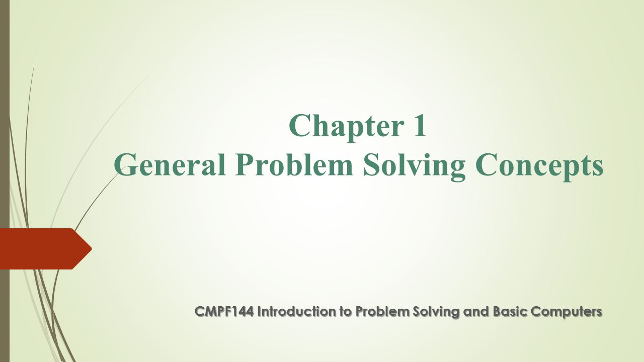 Introduction of problem solving