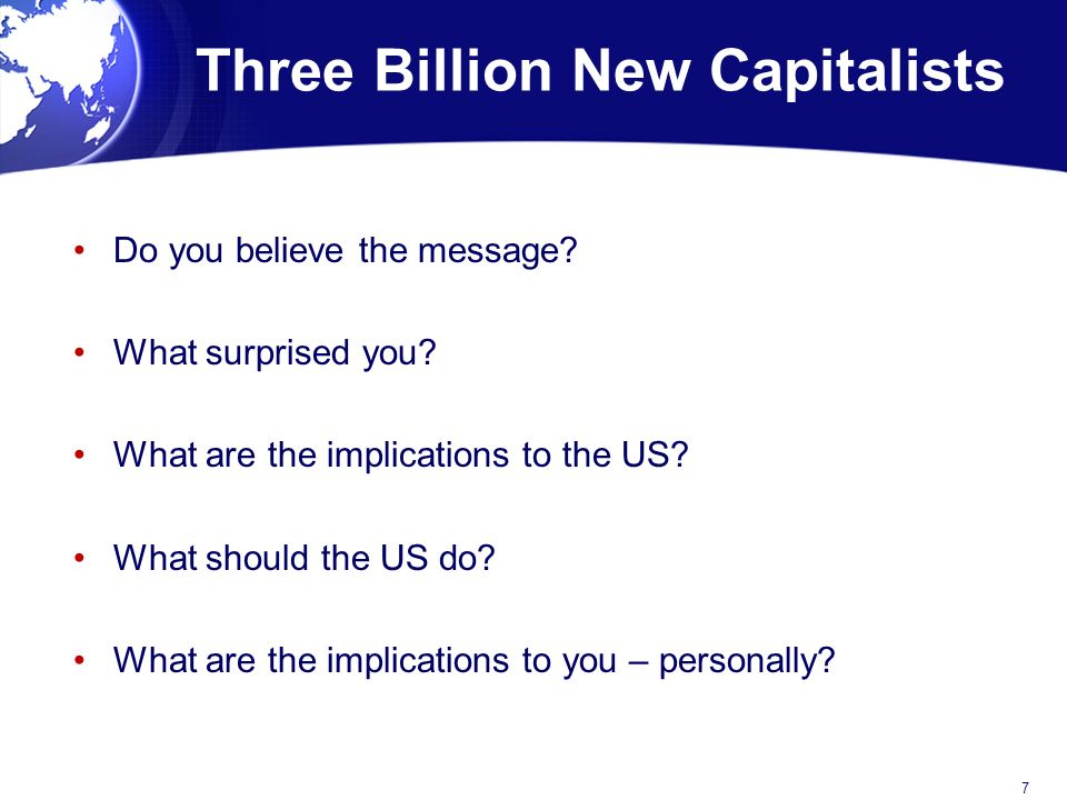 Do you believe the message. What surprised you. What are the implications to the US.