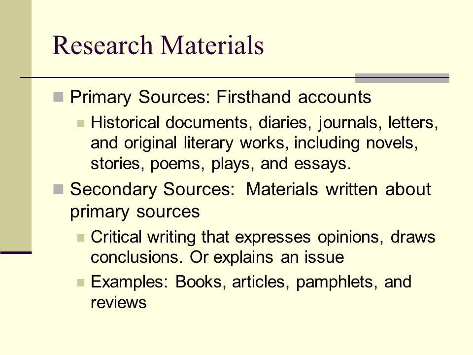 Sources for research papers