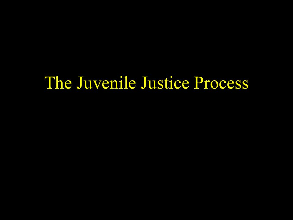 The Juvenile Justice Process
