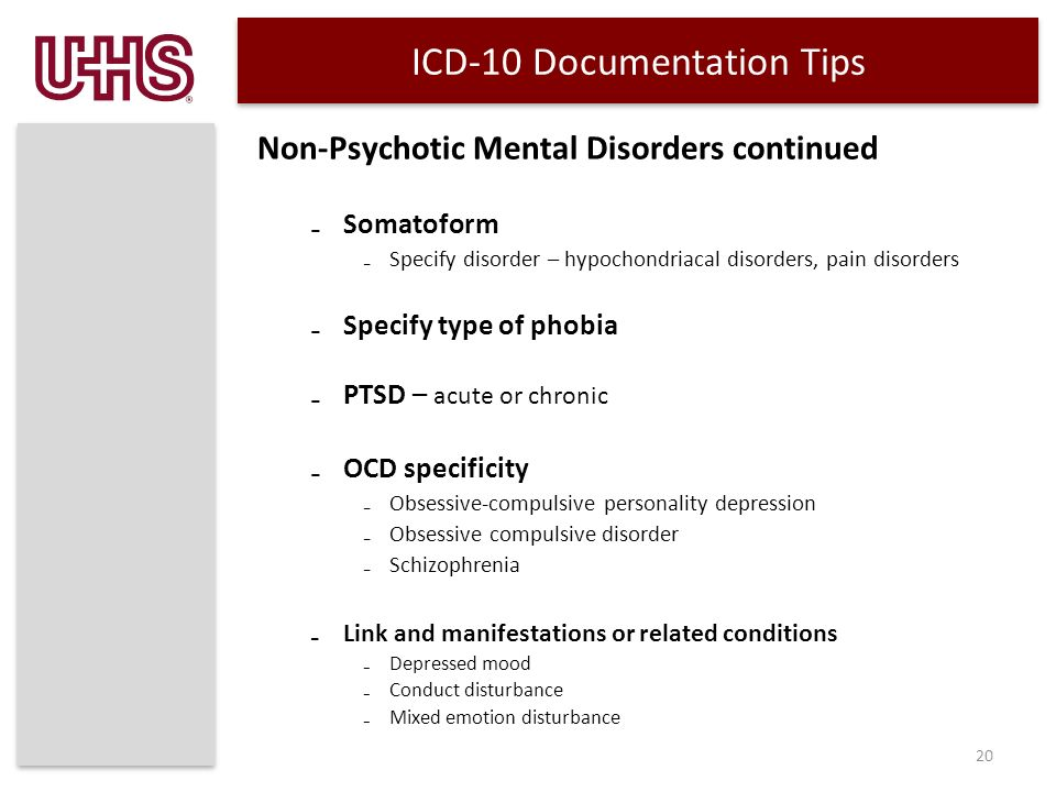 Icd 10 Thelcd Clification Of Mental And Behavioural