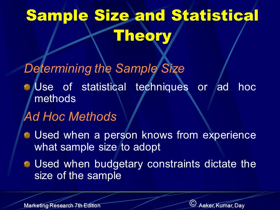 research sample size The sample size of a statistical sample is the number of observations that constitute it it is typically denoted by n and it is always a positive integer.