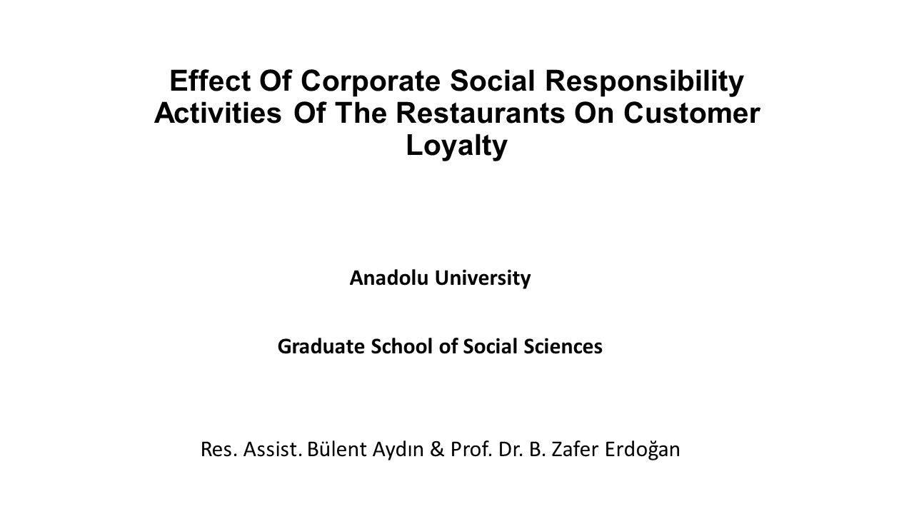 effect of csr activities on sales Free essay: importance of company's csr activities in india: it's effect on consumer buying behaviour for business research methods submitted to.