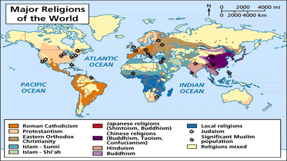 BELLWORK For Bellwork Today You Will Be Labeling A Blank Map Of - Religion in the world today