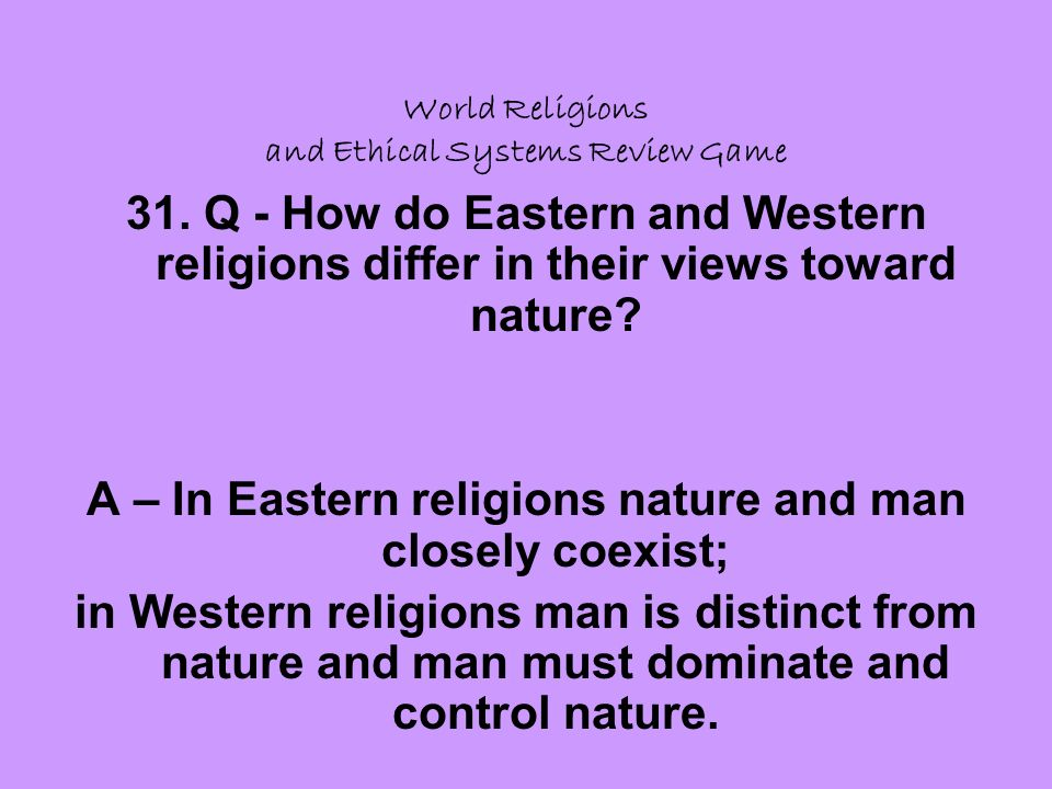 World Religions and Ethical Systems Review Game 31.