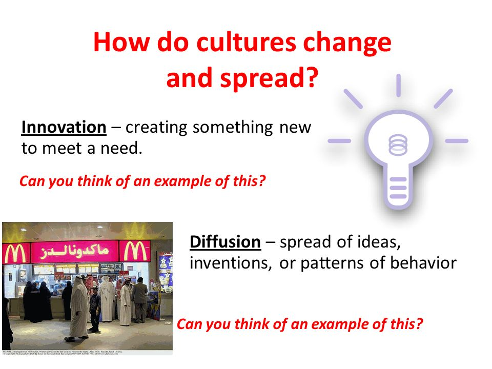 Where do cultures start Cultural Hearth – where innovations, ideas, materials and technology begin