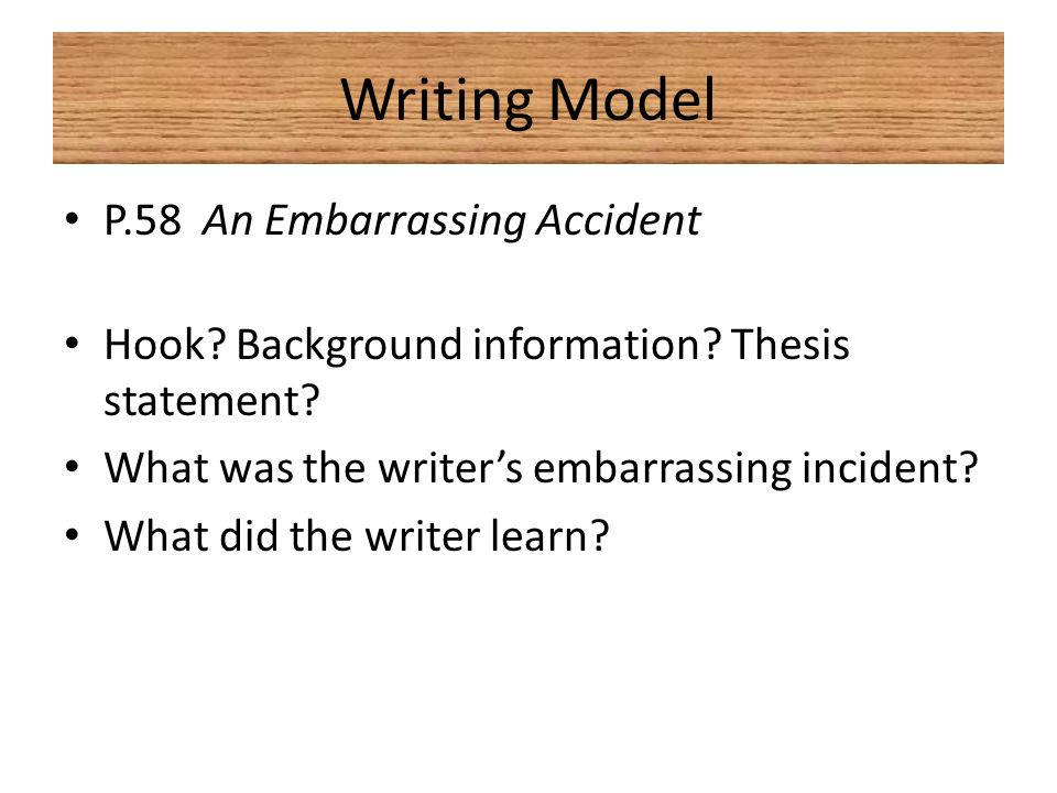 narrative essay on accidents
