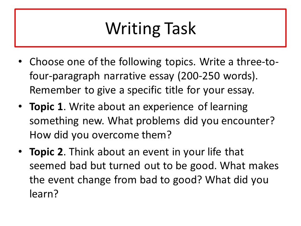 Narrative Essay Topics?