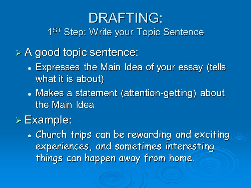 Descriptive Essay Topic Ideas