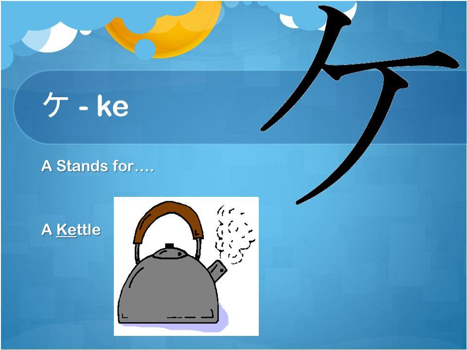 ク - ku A Stands for…. A Kukaburra's beak