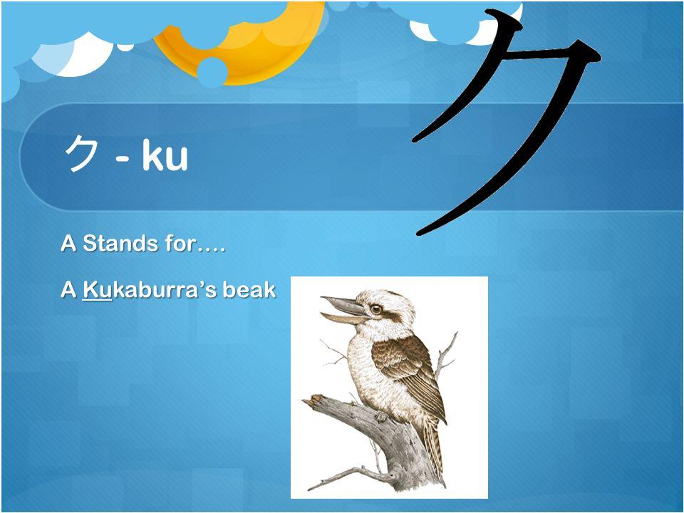 キ - ki Stands for…. A Key