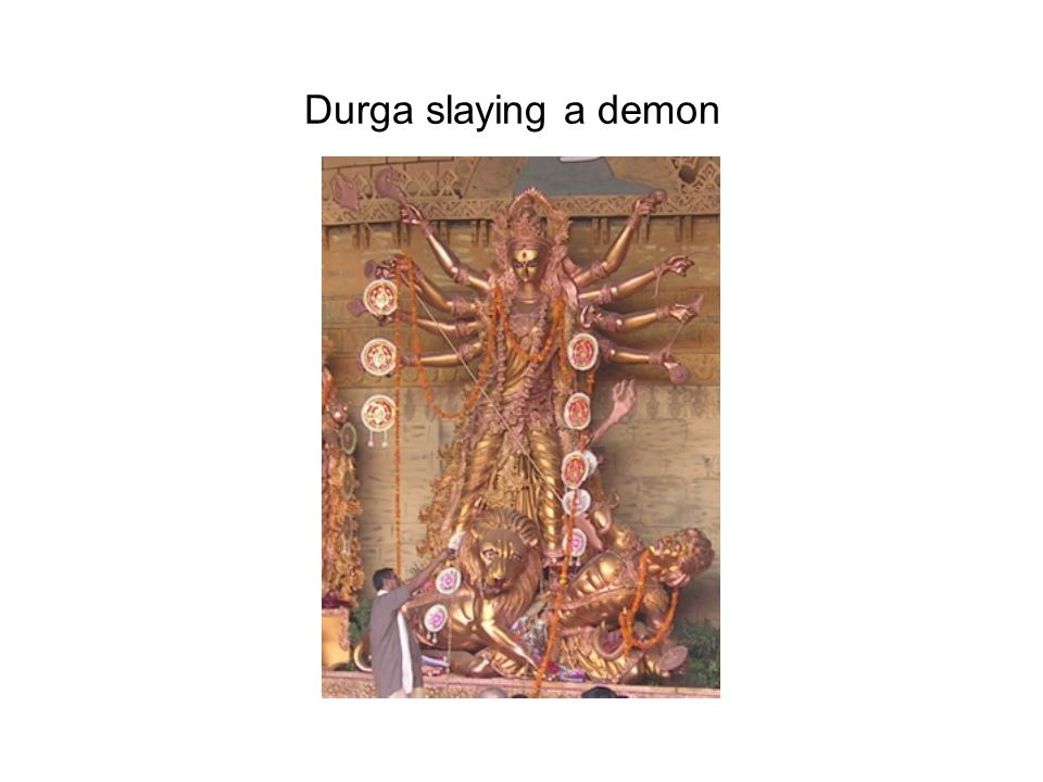 Durga slaying a demon