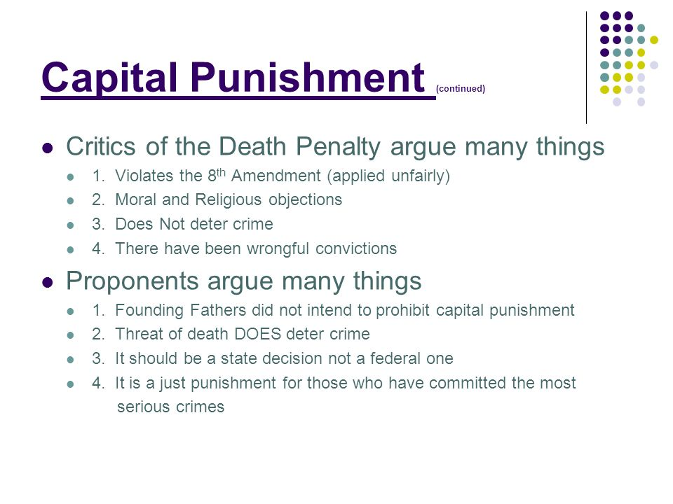 capital punishment and its failure at deterring crime Does the death penalty deter crime the naysayers when he investigated the deterrent effect of capital punishment on the number of homicides in england.