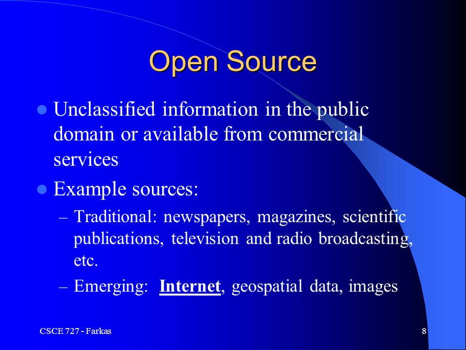 offensive iw open sources csce