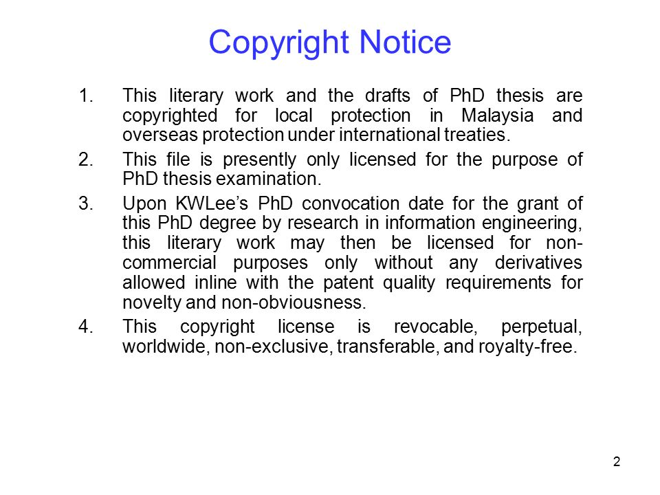 how to copyright my dissertation