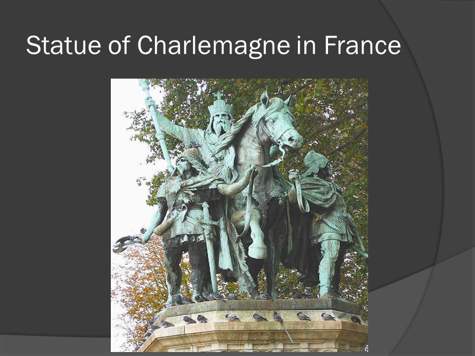 Statue of Charlemagne in France