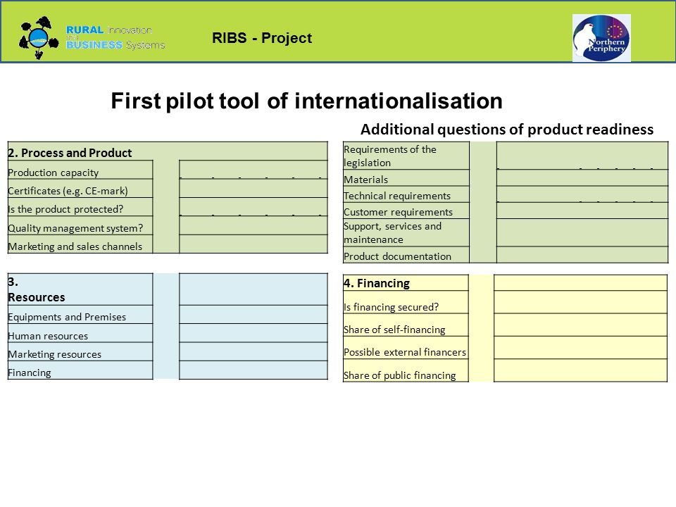 RIBS - Project First pilot tool of internationalisation 2.