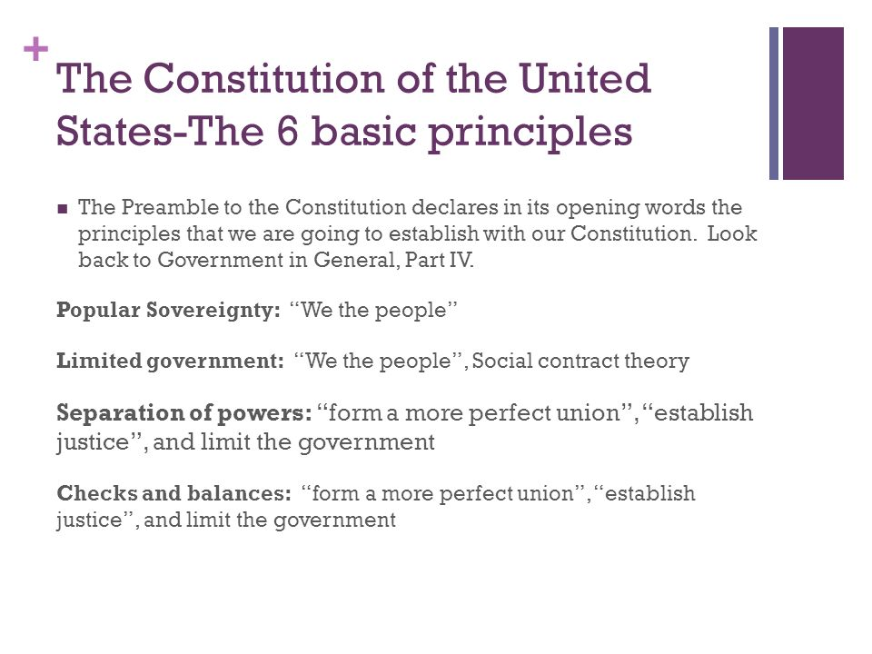 Unit 1: Introduction to the Constitution and the Government. - ppt ...