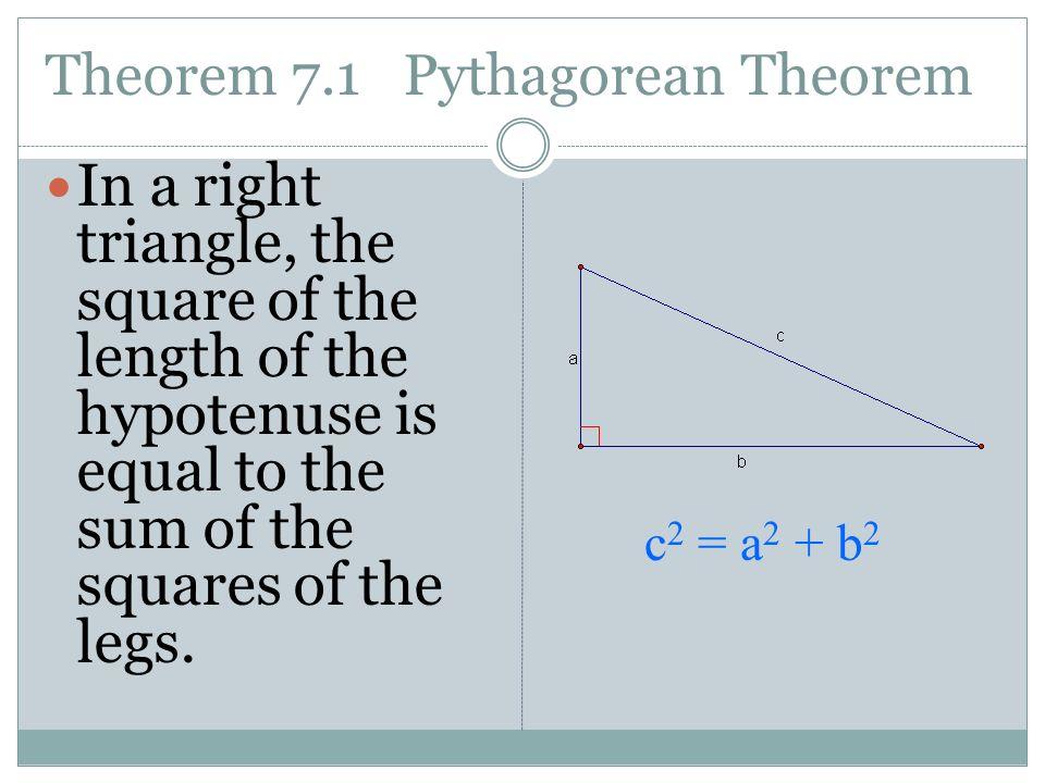 The pythagorean theorem assignment