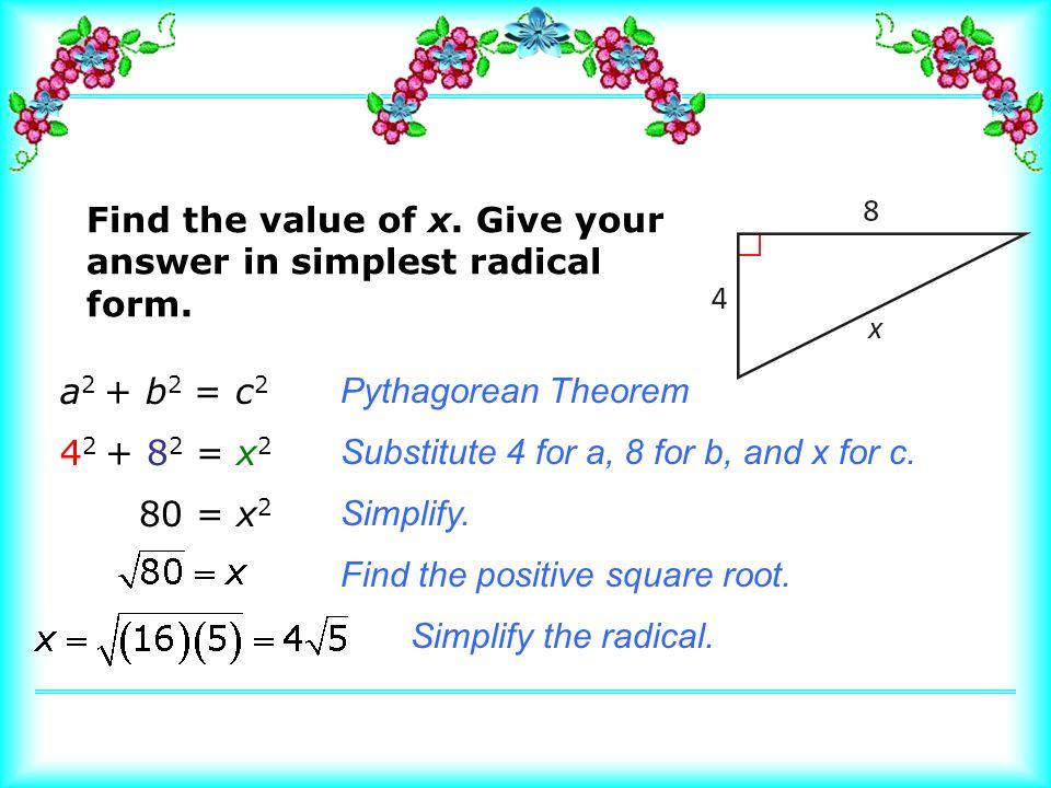 Pythagorean Theorem 5.4. Learn the Pythagorean Theorem. Define ...