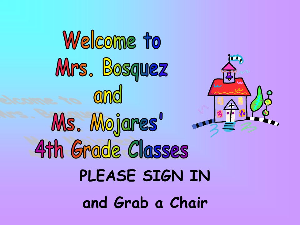 PLEASE SIGN IN and Grab a Chair