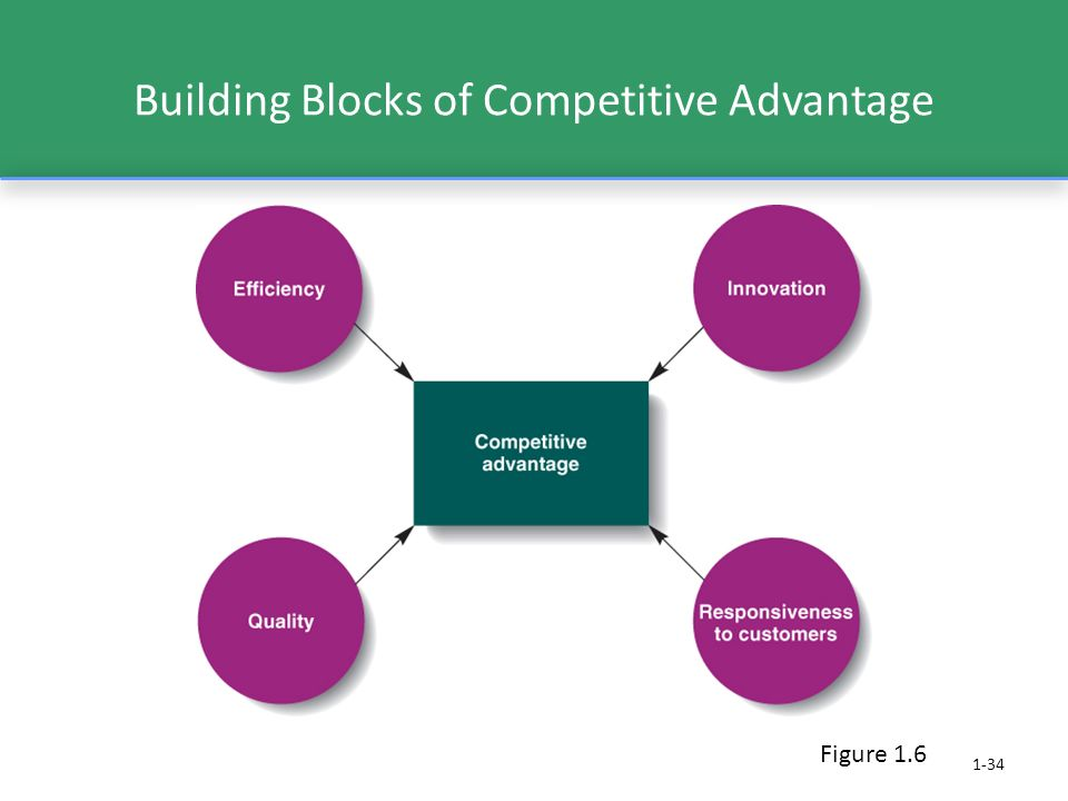 1-34 Building Blocks of Competitive Advantage Figure 1.6