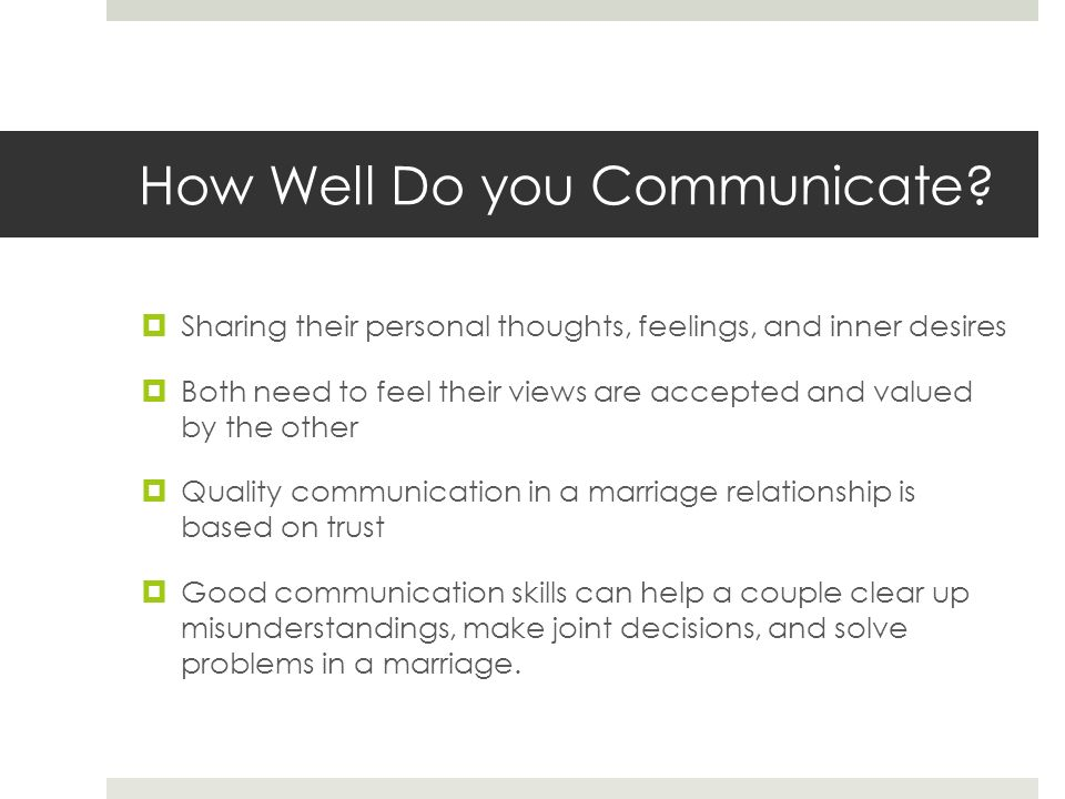 How Well Do you Communicate.