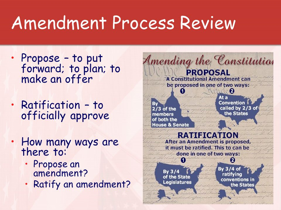 Unit 3 We The People Article V Amendment Process Ppt Download