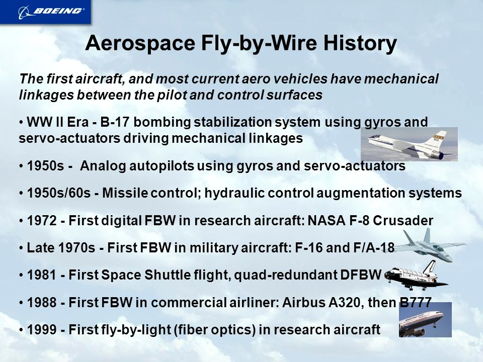 Aerospace Fly-by-Wire History and Challenges 3 March, 2003 Don C ...
