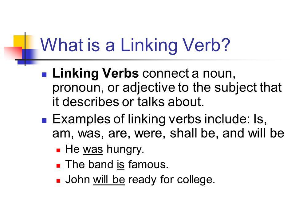 Parts Of Speech Ii Verbs Linking Verbs Helping Verbs And Verb