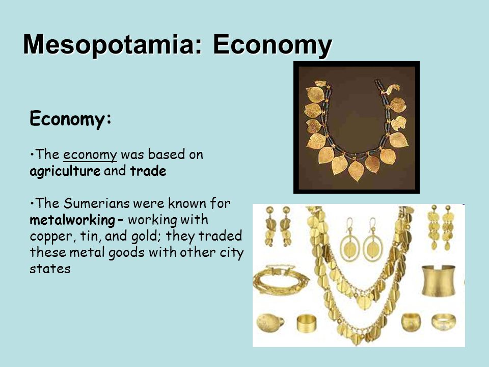 What was Sumer (mesopotamia)'s Economy like? Major help!?