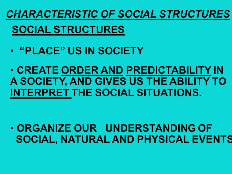 SOCIAL STRUCTURE FRAMEWORK TraditionalEmergent Ascribed Status Achieved Status SOCIETY Social Groups Primary Groups Secondary Groups Social Institutio