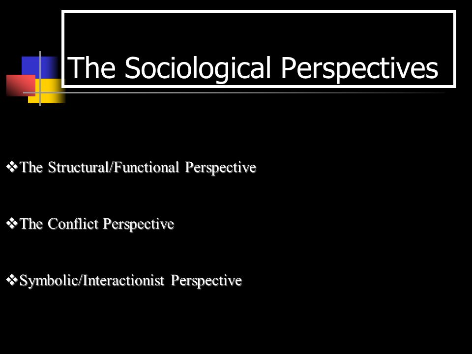 Theoretical Perspectives The Sociological Perspectives The