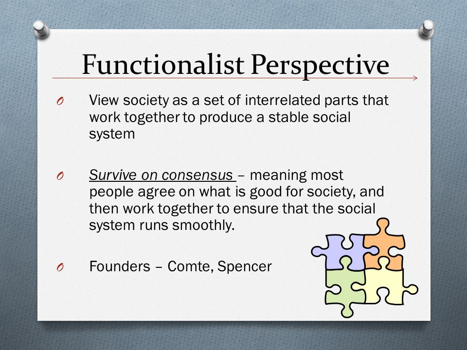 I Need A Functionalist Study (Sociology)?