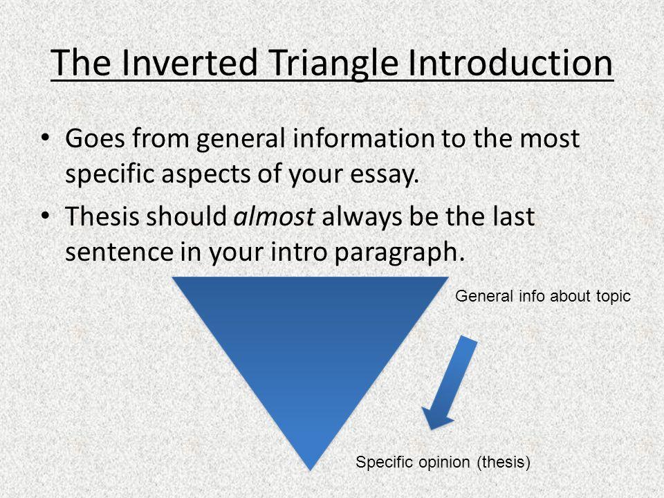 triangle essay