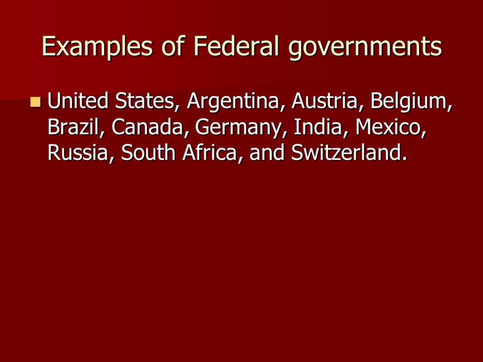 Unitary, Federal, and Confederation Governments - ppt video online ...