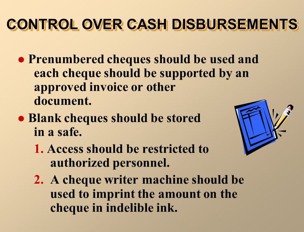 internal controls over cash disbursements