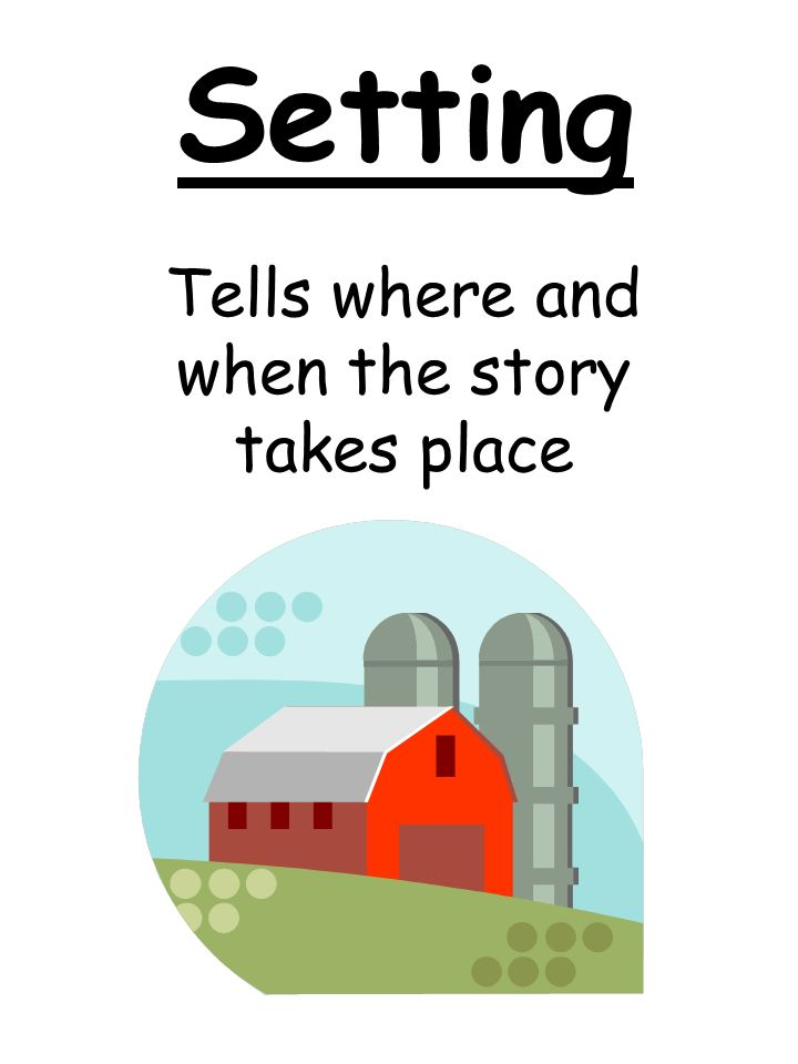 Setting Tells where and when the story takes place