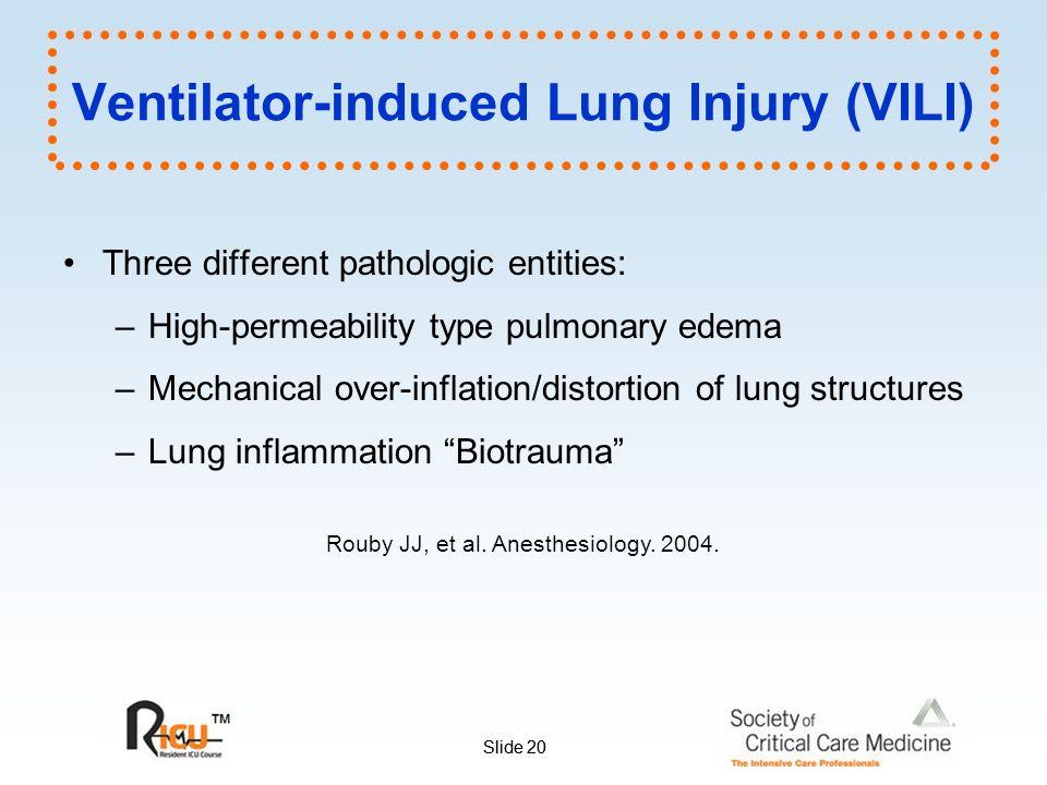 Edema on the ventilator