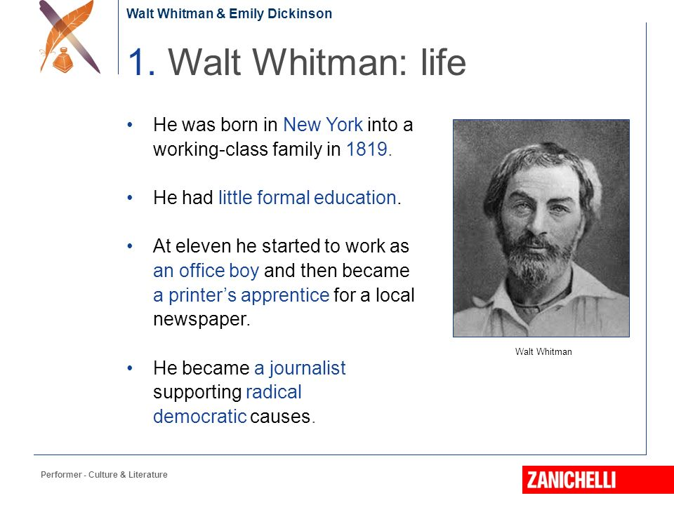 emily dickinson vs walt whitman