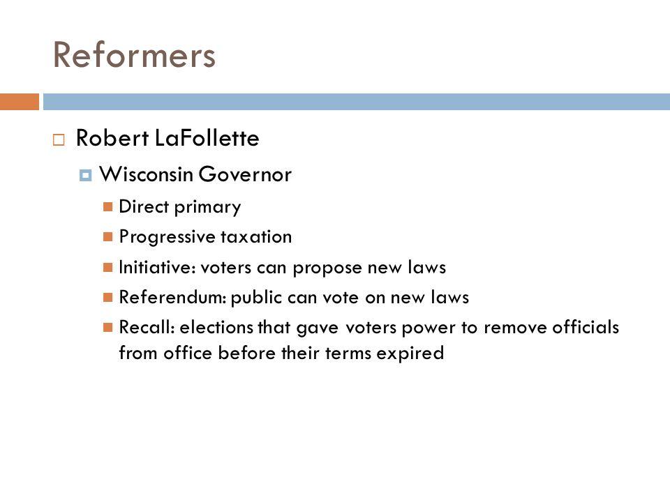 Recall Election Progressive Era new laws Recall elections