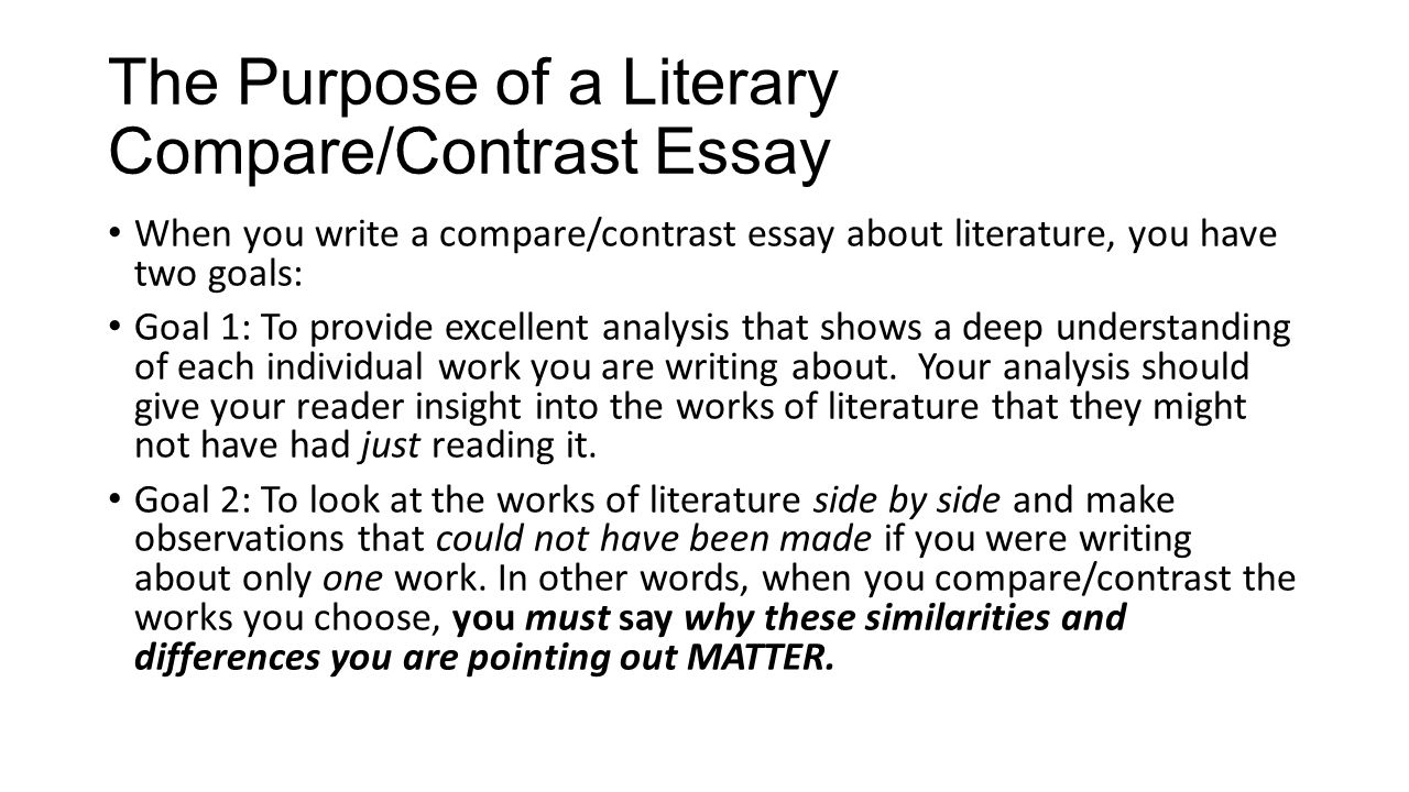 Compare And Contrast Thesis Sentence Templates