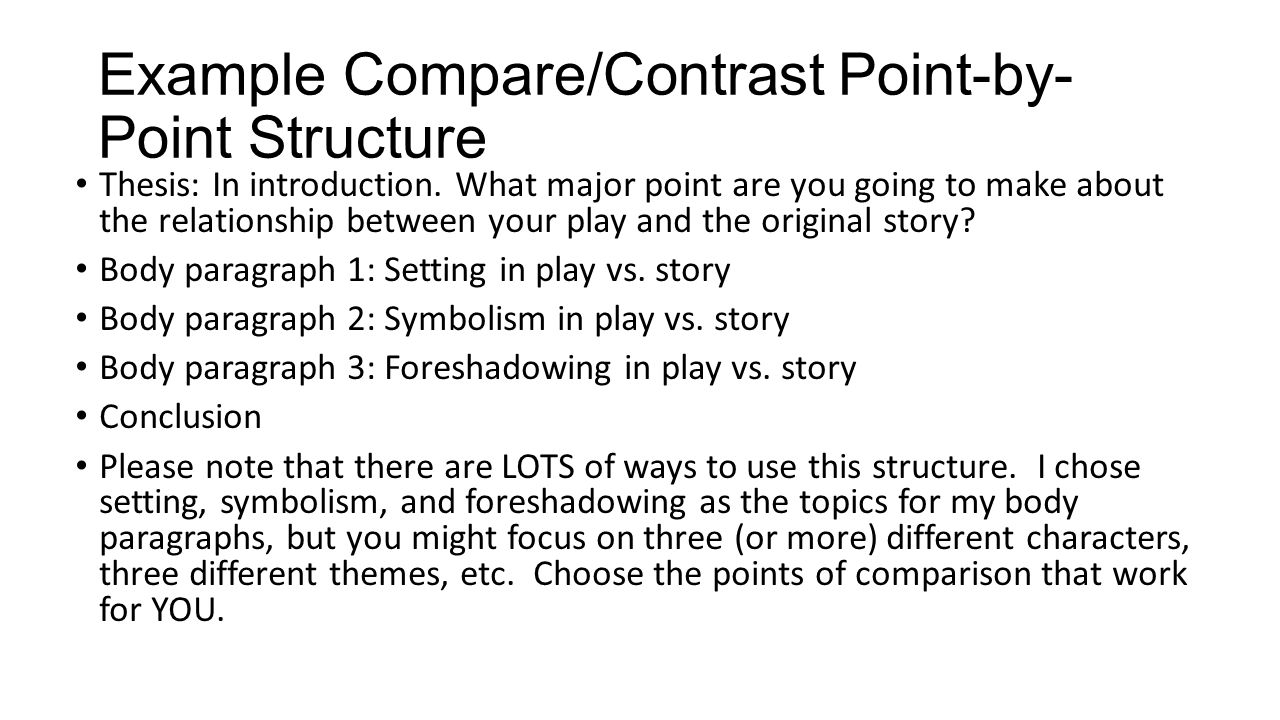 Comparison Contrast Essay Example Paper Comparison And Contrast