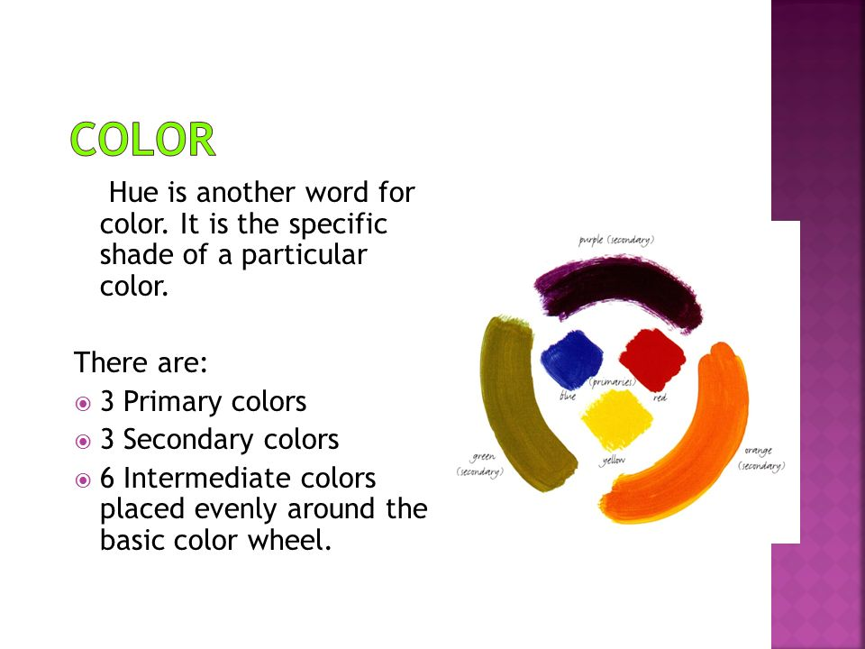 Hue Is Another Word For Color It The Specific Shade Of A Particular